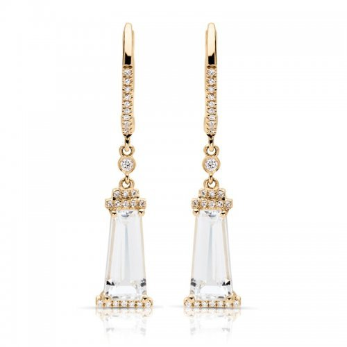 White Topaz Diamond Fashion Earrings
