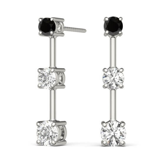 Black Diamond Drop Earrings