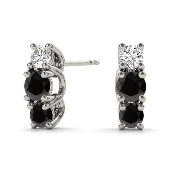 Black Mini Diamond Studs