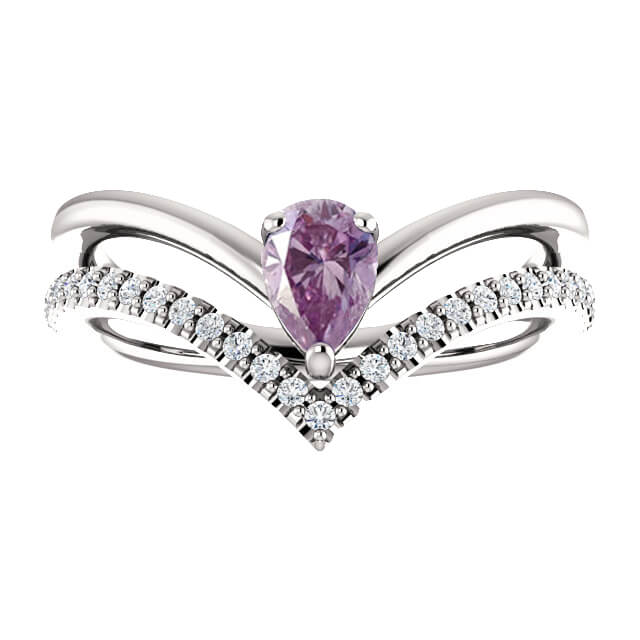 71968 Pear Cut Purple Sapphire