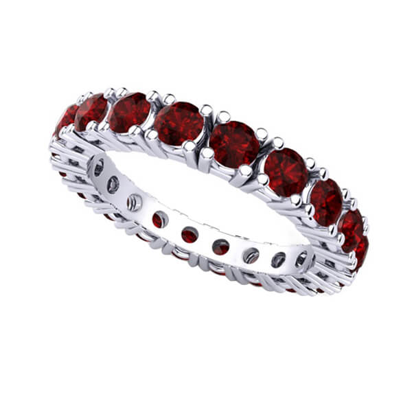 Ruby Eternity Wedding Ring
