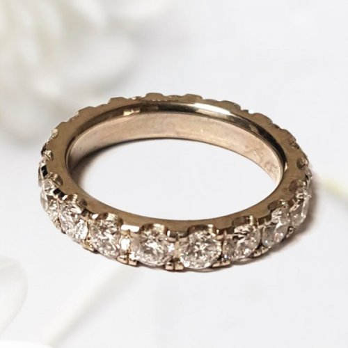 Round Brilliant Cut Diamond Classic Wedding Band