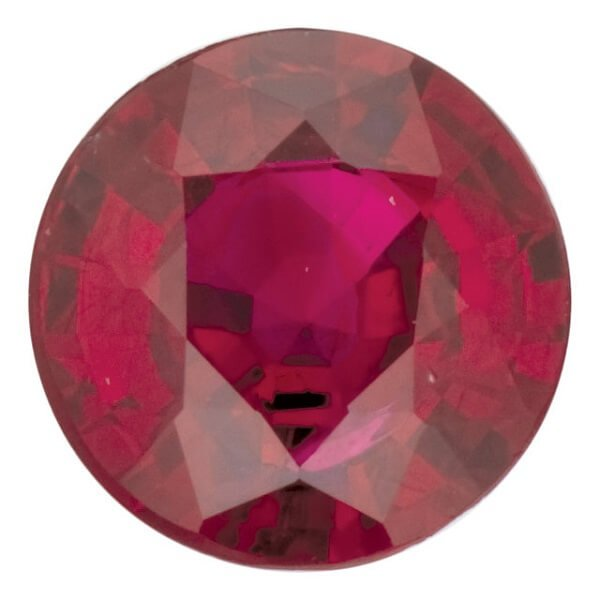 Natural Round Diamond Cut Ruby Loose