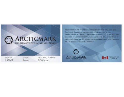 Arcticmark Canadian Diamond Certificate