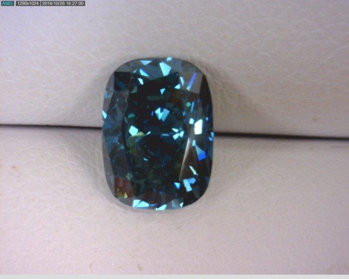 Cushion Cut Blue Diamond F249