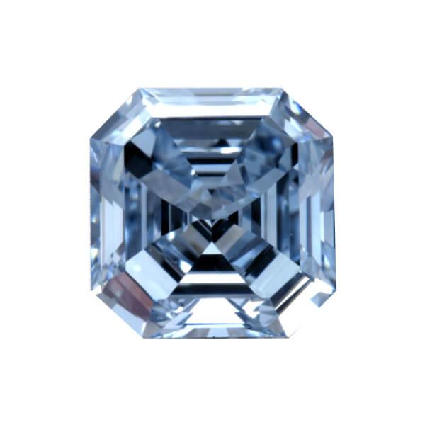 Cushion Cut Natural Blue Diamond