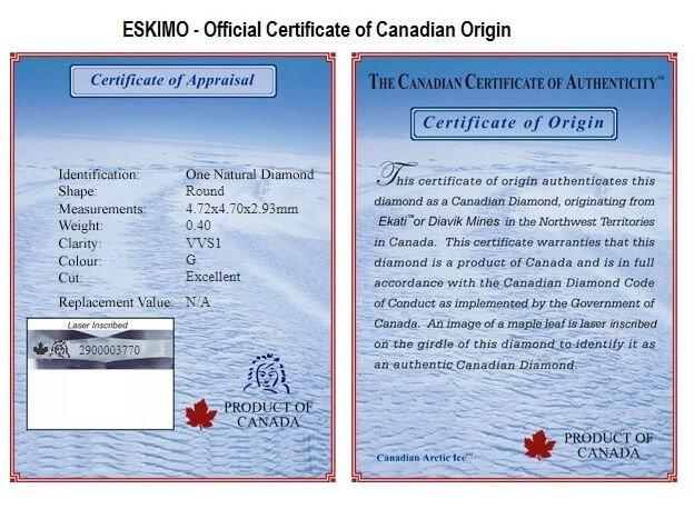 Eskimo Certificate