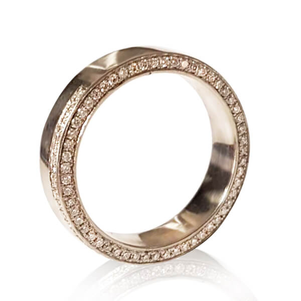 Fancy Celebrity-Inspired Women's Wedding Ring with Diamond Accents