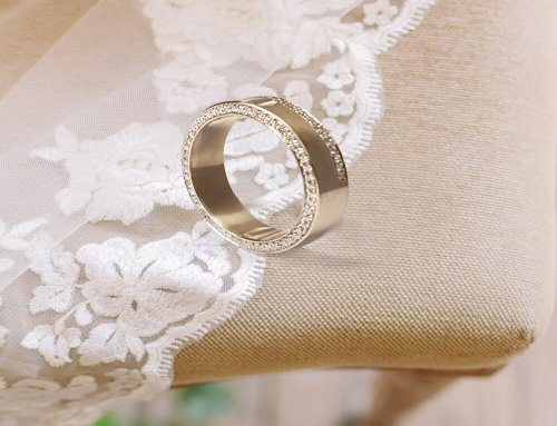 Celebrity-Inspired Women's Wedding Band with Diamond Accents set in Micropave