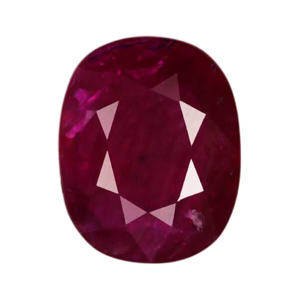 Burmese Oval Faceted Genuine Ruby AA