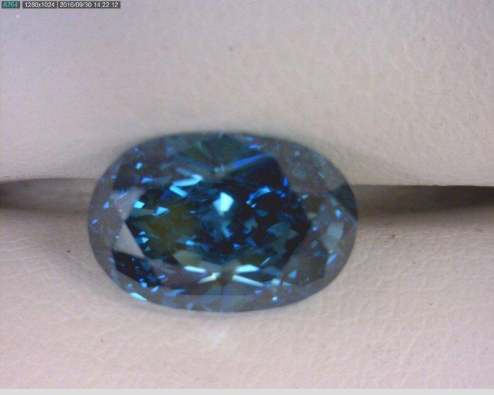 Oval Cut Blue Diamond