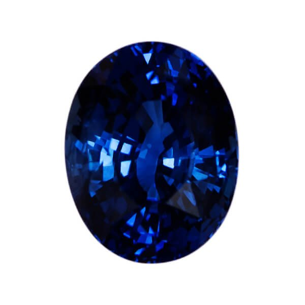 Oval Genuine Faceted Blue Sapphire