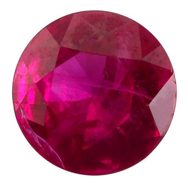 Round Natural Ruby