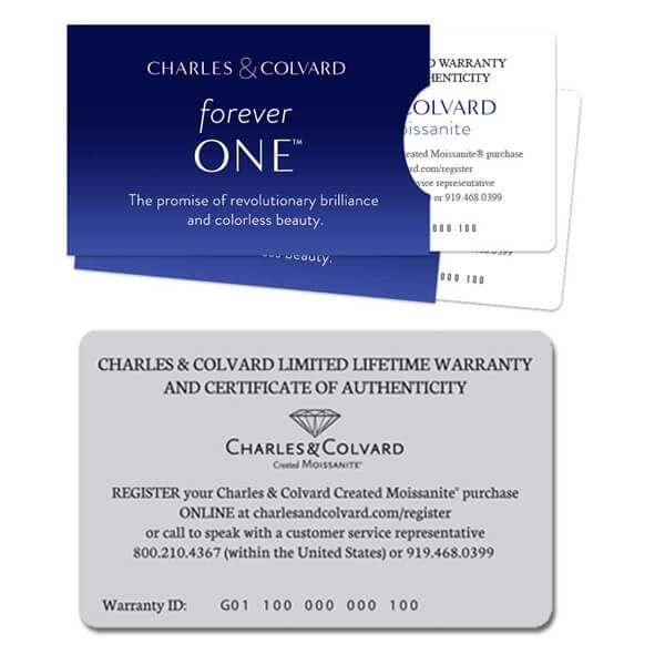 Moissanite Warranty Certificate Card