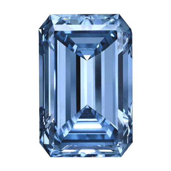 Emerald Cut Blue Diamond