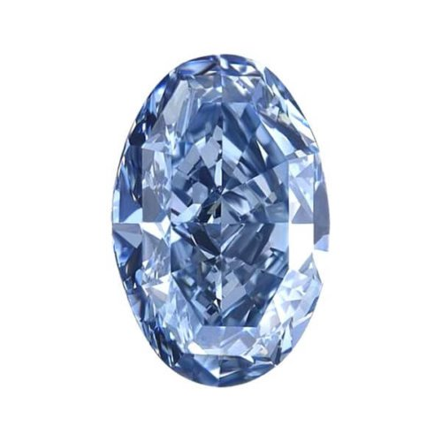 Oval Blue Diamond