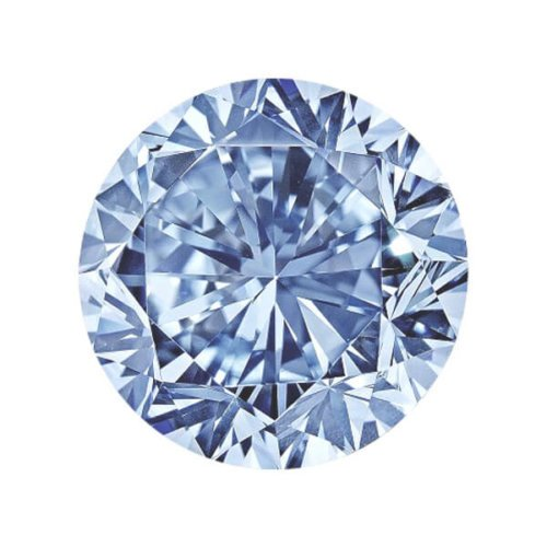 Round Blue Diamond