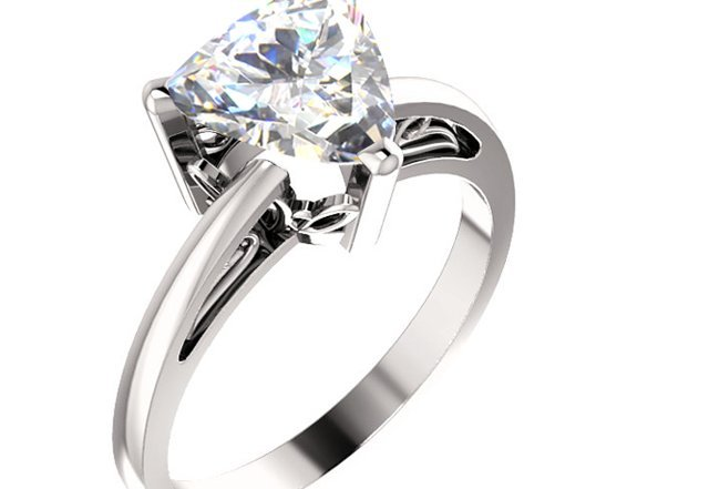 Trillion Cut Diamond Engagement