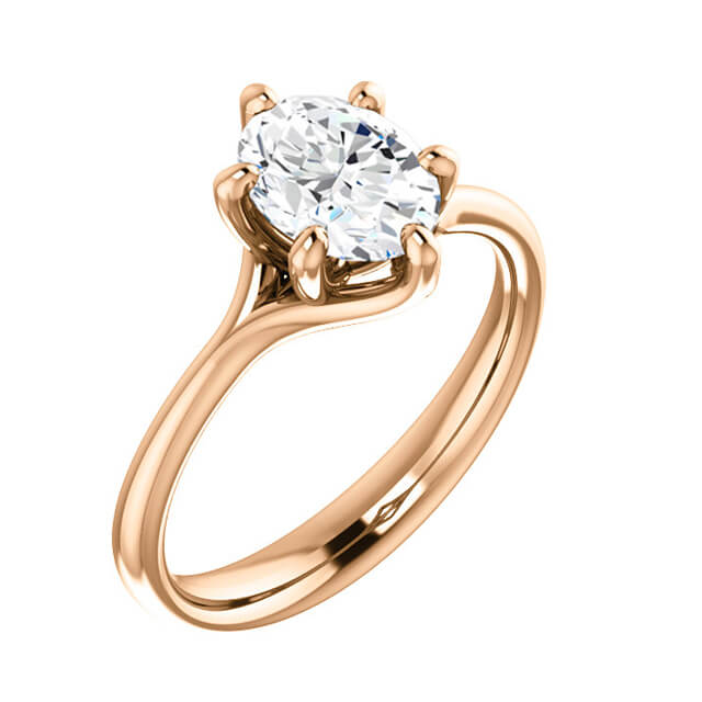 Oval Diamond Solitaire Engagement