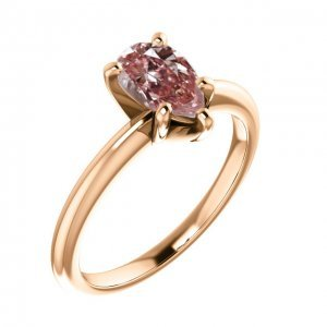 Pear Shaped Pink Diamond Solitaire Engagement