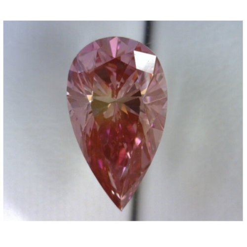 Natural Enhanced Pink Diamond Pear Cut