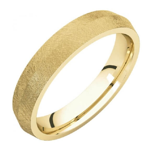 Knife Edge Comfort Fit Men's Wedding Band