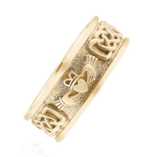 Celtic Inspired Claddagh Men's Wedding Band