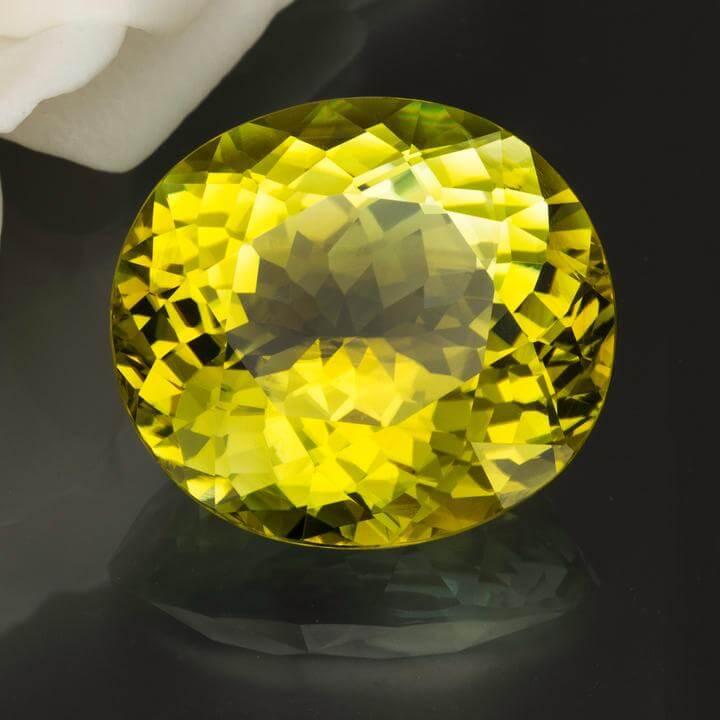 Exquisite Greenish Yellow Neon Tourmaline 43 4 Cts