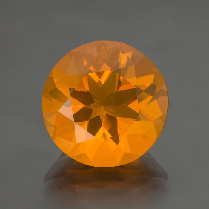 Orange Untreated Round Cut Fire Opal