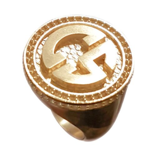 Men's Personalized Signet Ring in 18K Yellow Gold