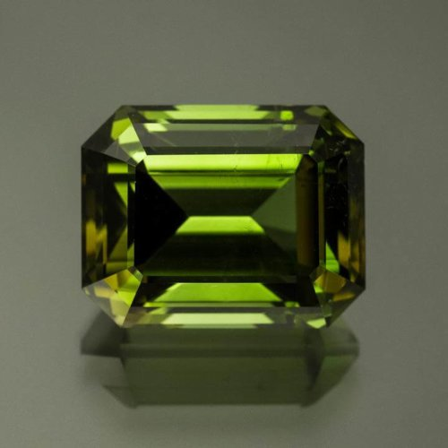 Emerald Cut Green Tourmaline from Brazil