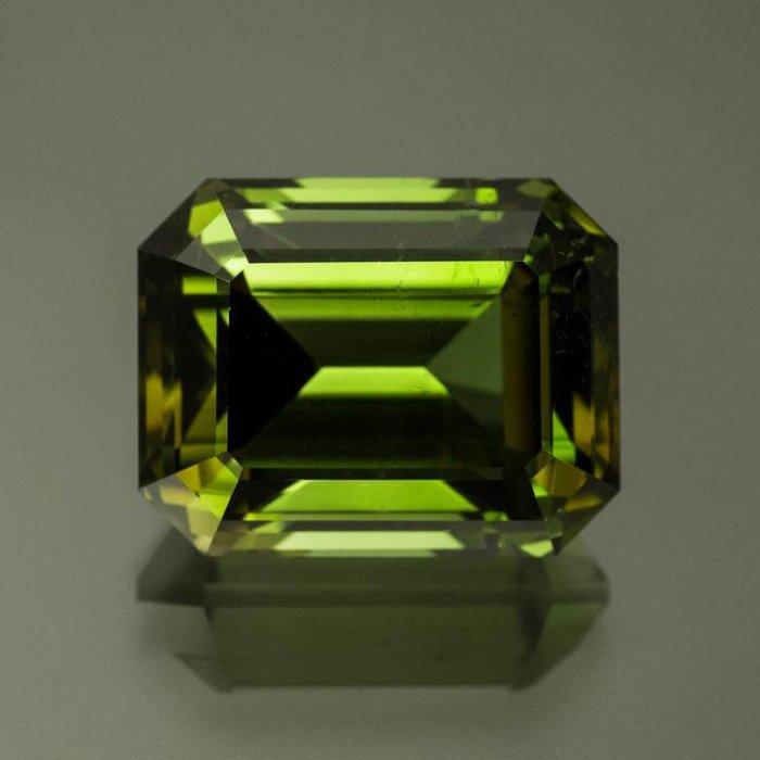 Emerald Cut Green Tourmaline from Brazil