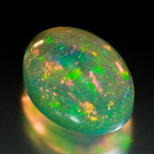 Multicoloured Untreated Precious Opal with Play of Colour