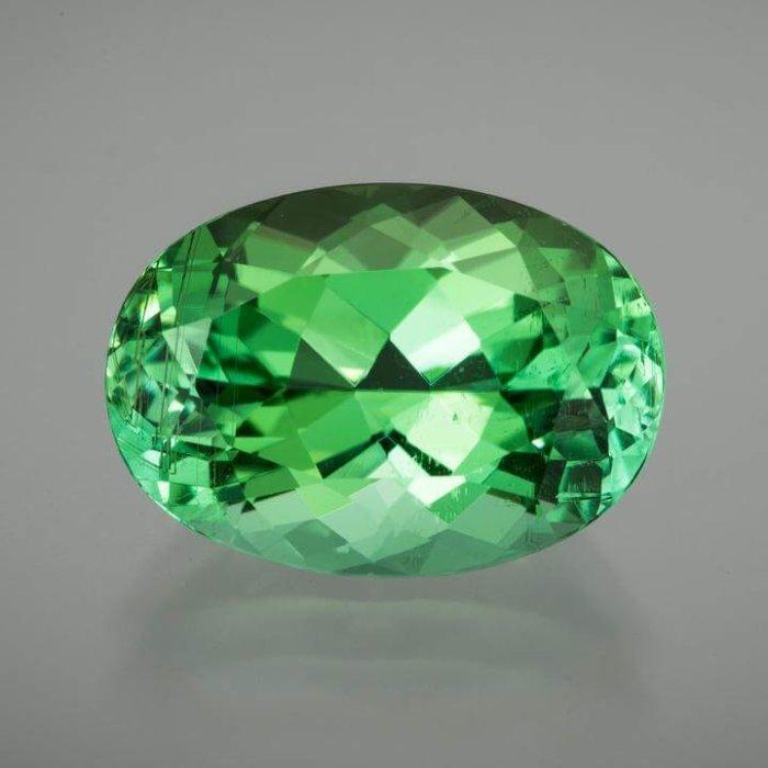 GIA Certified Oval Green Tourmaline-Neon