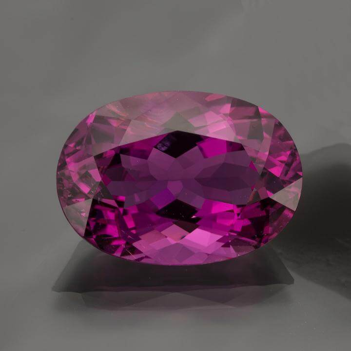Oval Neon Purple Tourmaline 17 24 Cts
