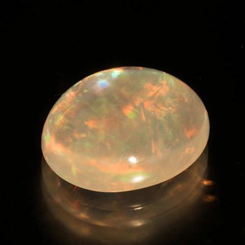 White Untreated Opal with Play of Colour Phenomena