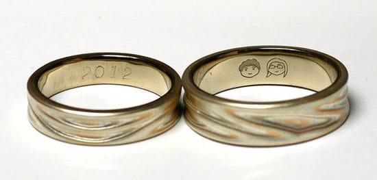 Romantic ring engravings