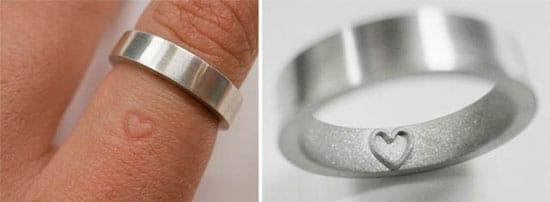 Imprint wedding bands