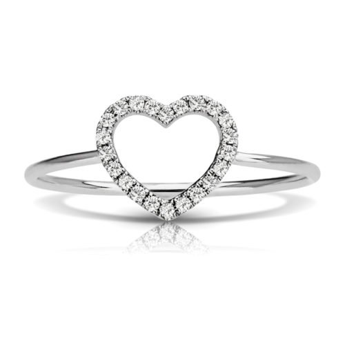 Heart Shaped Diamond Fashion Ring