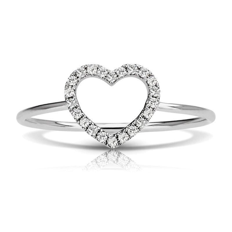 Heart Shaped Diamond Fashion Ring