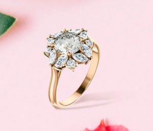BLOG Canadian Arcticmark Round Cut Diamond Floral Halo Ring