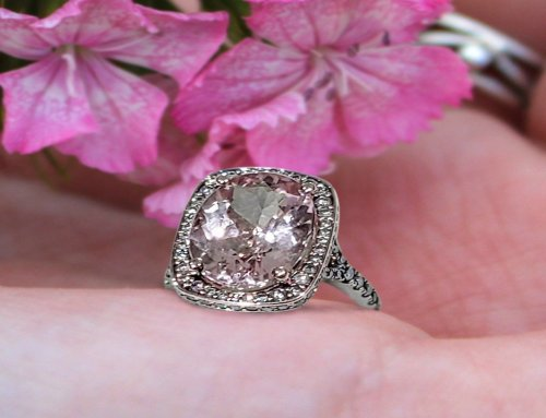 Vintage Style Imperial Topaz Diamond Accents Cocktail Ring