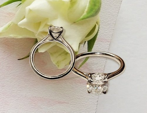 2.01ctw Oval Diamond Solitaire Engagement Ring in Tapered Trellis