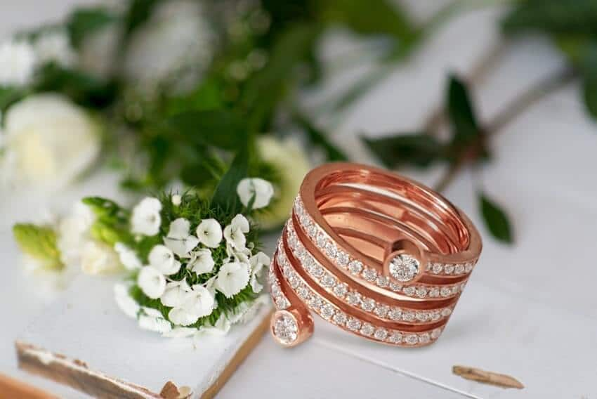 Cocktail Ring In Rose Gold