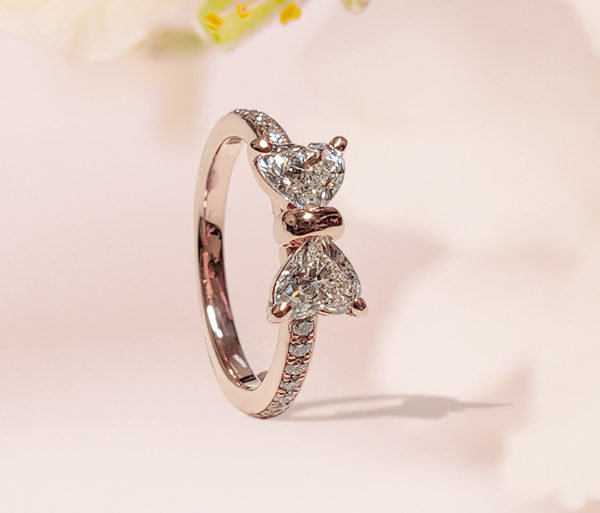 Bow Style Engagement Ring