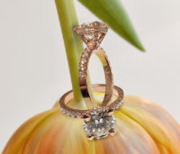 Diamond Accents Solitaire Rose Gold