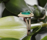 Pear Emerald Engagement