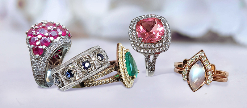 5 Rings With Gemstone