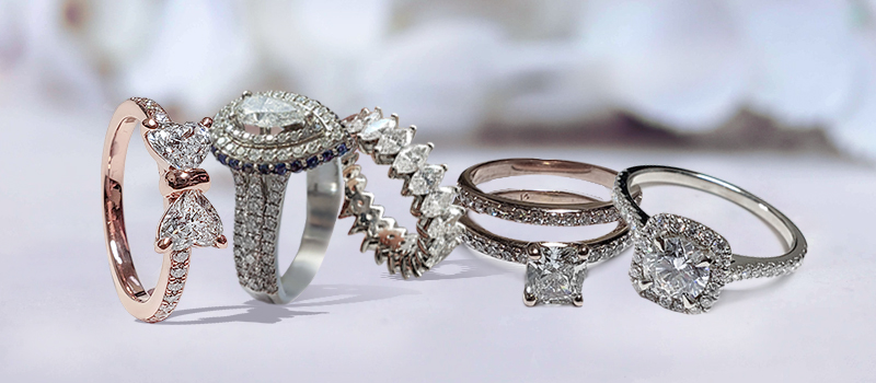 5 Rings With Other Cut Stone