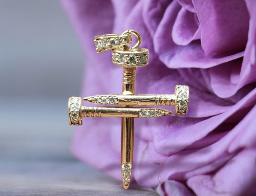 Diamond Nail Cross Pendant